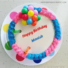 Happy Birthday Cake Manish Bhai The Blouse
