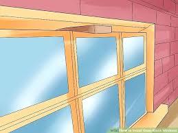 glass block windows image titled install glass block windows step glass block window installation wood frame