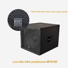 Loa siêu trầm Sub Partyhouse MF818B dùng cho các phòng Karaoke chuyên  nghiệp, quán Bar, phòng nhạc, sân khấu biểu diễn trong nhà và ngoài trời.  Thông số kỹ t…