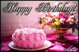 8 Bday Cakes And Flowers Graphic Photo Happy Birthday Wish
