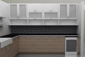modern kitchen cabinet glass door