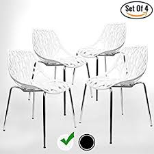 modern white chairs. Modern Dining Chairs (Set Of 4) By UrbanMod, White Chairs, KID-
