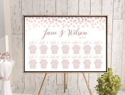 Personalized Seating Chart Custom Rose Gold Find Your Seat Chart Land Th69