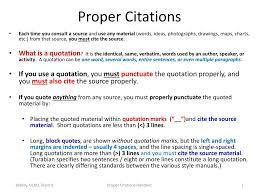 Ppt Proper Citations Powerpoint Presentation Id2770086