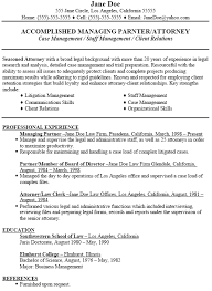 lawyer resume template sample LiveCareer