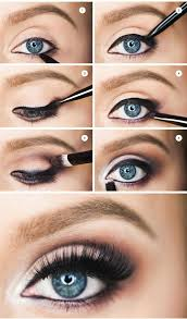 step by step how to make blue eyes pop love this tutorial smokey eye tutorial for