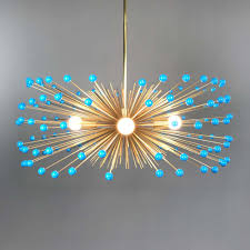 turquoise chandelier lighting. _hover Aqua Blue Color Beaded Gold Urchin Chandelier On Turquoise Lighting