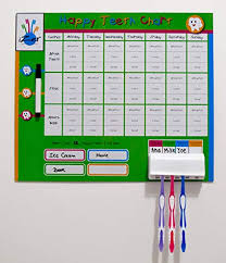 Izer Toothbrushing Rewards Chart For Kids With Magnets And Toothbrush Holder