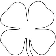 Small Picture Four Leaf Clover Coloring Pages to Invigorate in coloring page