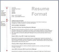 sap hr sample resume format resume format tips