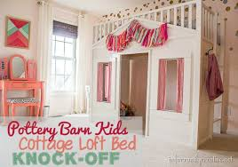 loft beds for kids pottery barn. Brilliant Kids Ttery Barn Kids Cottage Loft Bed KNOCKOFF Throughout Beds For Pottery