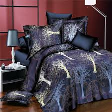 4pcs suit 3d the tree of life reactive dyeing polyester fiber bedding sets queen size