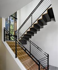 Modern Handrail steel flat bar hand rail staircase contemporary with light wood 7818 by guidejewelry.us