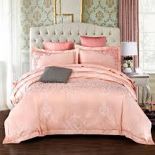 queen king size cotton satin jacquard luxury bedding set golden blue brown bed sheets set duvet cover embroidery pillowcase green duvet cover white duvet