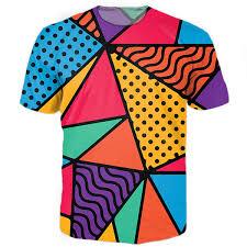 90s Pattern Shirts Beauteous 48s Feel Tee WomenMen Shirt Casual T Shirt Style Summer New 48D
