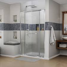 dreamline vitreo x 46 in to 46 3 4 in x 72 in semi framed pivot shower door in chrome shdr 2146722 01 the home depot