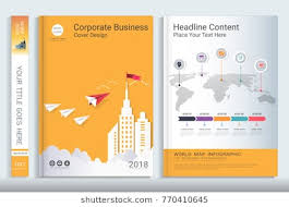 cover book design template with presentation infographics elements use for annual report proposal