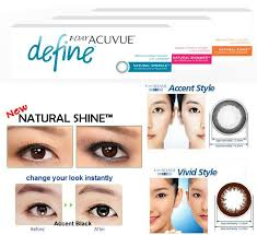 Acuvue Contact Colors Chart 1 Day Acuvue Define Daily Disposable Contact Lenses Daily