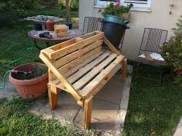 pallet outdoor bench diy. Pallet Garden Bench Outdoor Diy