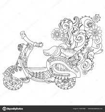 Motor Scooter Doodle Stockvector Yazzik 156472896