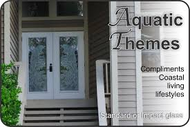 glass front doors. Etched Glass Front Entry Doors With Aquatic Themes