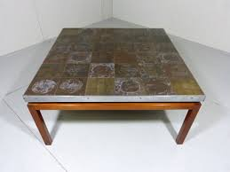 mid century large square coffee table