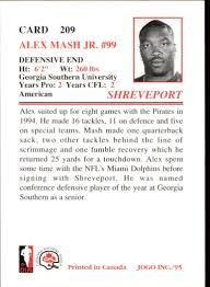 1995 JOGO #209 Alex Mash Jr. - NM-MT
