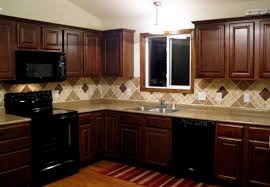 Kitchen Cabinets. backsplash for kitchen cabinets: cream and brown ...