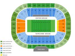 True To Life Notre Dame Football Stadium Seating Chart Notre