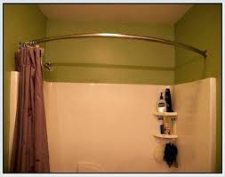 brushed nickel shower curtain rod stall shower curtain rod image of curved shower curtain rod brushed