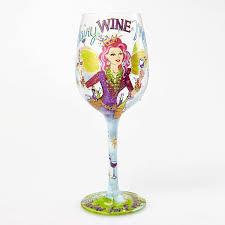 "Amazon.com | Designs by Lolita ""Fairy Wine Mother"" Hand-painted Artisan Wine  Glass, 15 oz.: Wine Glasses"