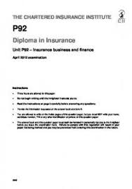 diploma in insurance the chartered insurance institute  diploma in insurance the chartered insurance institute