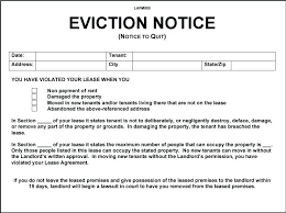 Eviction Notices Template Delectable Eviction Notice Template Examples Landlord To Tenant Letter Quit
