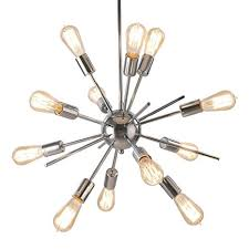 vintage style lighting fixtures. Sputnik Chandelier, Naturous 12 Lights Pendant Light, Modern Ceiling Light With Chrome Finish, Vintage Style Lighting Fixtures E