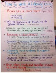best literary essay ideas literary writing  how to write a literary essay anchor chart