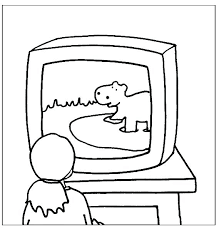 tv coloring pages. Delighful Pages Tv Coloring Page Television  Show Pages   Throughout Tv Coloring Pages N