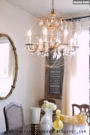 restoration hardware knockoff diy orb chandelier