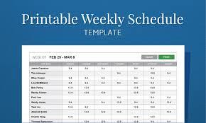 Printable Weekly Schedule Maker Employee Schedule Maker Template Free Printable Weekly Work