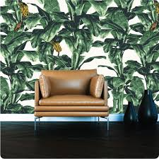 tropical wallpaper in hollywood colour way option 1
