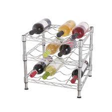 chrome wine rack. Wonderful Rack HDX 3 Tier Wire Countertop Wine Rack In Chrome In S