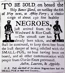 a history of immigration in the usa sutori advertisement for slave charleston south carolina in 1760 library of congress