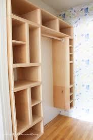diy boxed closet shelving