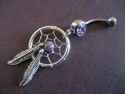 Dream Catcher Belly Button Rings Purple Dream Catcher Belly Button Ring Dreamcatcher Jewelry Navel 56