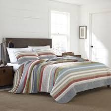 Buy Blue Grey Quilt Set from Bed Bath & Beyond & Eddie Bauer® Salmon Ladder Stripe King Quilt Set in Blue Adamdwight.com