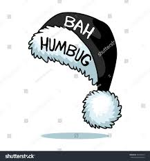 Bah Humbug Hat With Lights Cartoon Ebenezer Scrooge Bah Humbug Santa Stock Vector