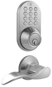 Decorating electronic keyless door lock pictures : MiLocks DFL-02 Keyless Entry Deadbolt and Lever Handle Door Lock ...