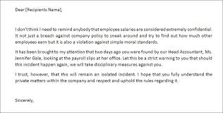 Sample Reprimand Letter For Poor Performance Kadil
