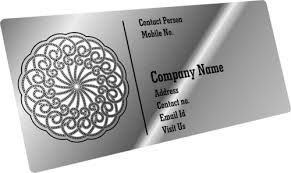 Steel Business Cards Steel Business Card Metal Business Cards Etch India Greater