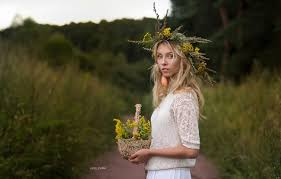 Wallpaper trees, hair, Girl, blonde, flowers, wreath, Alisa Tarasenko, Ivan  Sharp images for desktop, section девушки - download