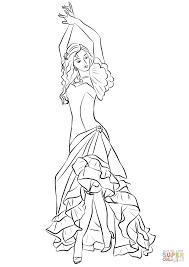 Coloriage Danseuse De Flamenco Coloriages Imprimer Gratuits